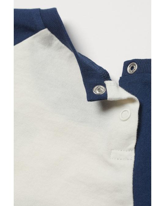 H&M 2-piece Jersey Set Dark Blue/mickey Mouse