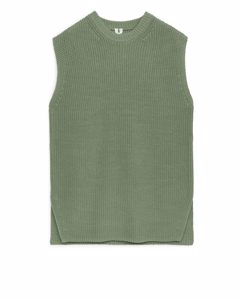 Knitted Vest Dusty Green