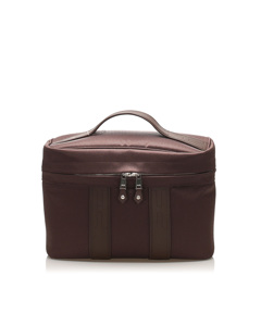 Hermes Acapulco Canvas Vanity Bag Brown