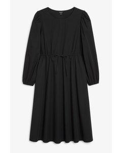 Drawstring Waist Maxi Dress Black Magic