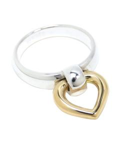 Hermes 18k Heart Ring Silver