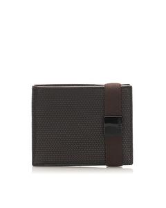 Fendi Leather Small Wallet Black