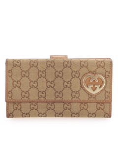 Gucci Gg Canvas Lovely Long Wallet Brown