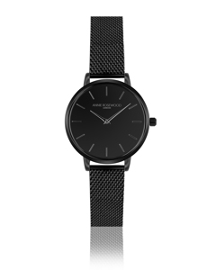 Forget-me-not Ultra Thin Black Watch