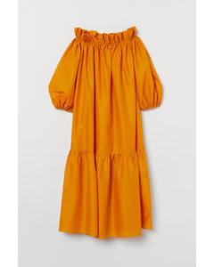 Off-Shoulder-Kleid Dunkelgelb