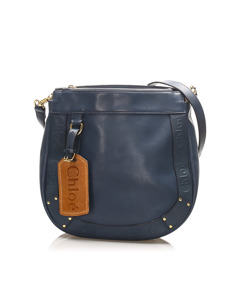 Chloe Eden Leather Crossbody Bag Blue