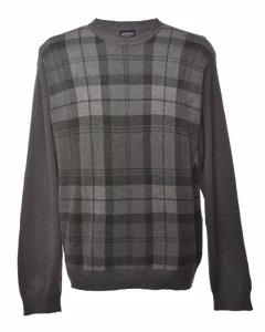 2000s Arrow Checked Jumper