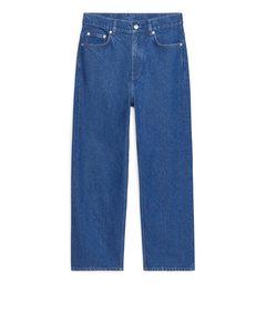 GERADE, kurz geschnittene Jeans Blau