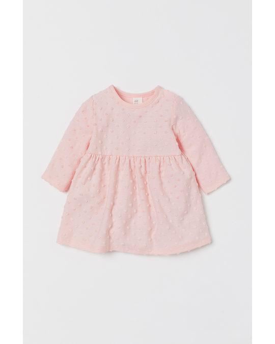H&M Kleid mit Strukturmuster Hellrosa