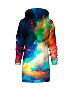 Mr. Gugu & Miss Go Colorful Space Oversize Hoodie Dress Galaxy Blue