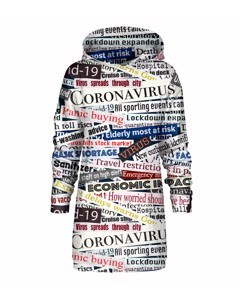 Mr. Gugu & Miss Go Pandemic Headline Oversize Hoodie Dress Creamy White