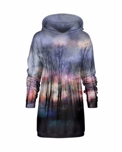 Mr. Gugu & Miss Go Gloomy Forest Oversize Hoodie Dress Nature Violet