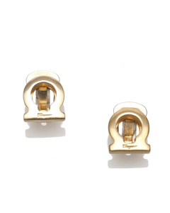 Ferragamo Gancini Clip-on Earrings Gold