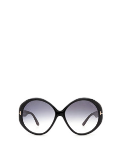 Ft0848 Shiny Black Solglasögon