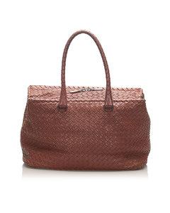 Bottega Veneta Intrecciato Leather Tote Pink