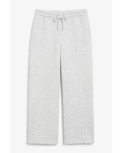 Wide Leg Sweatpants Light Grey