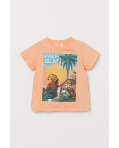 T-Shirt mit Druck Koralle/Jaguare