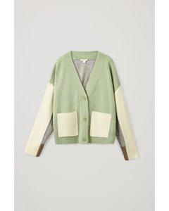 Colour-block Cardigan Multicoloured