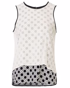 Printed Double Layer Sleeveless Blouse
