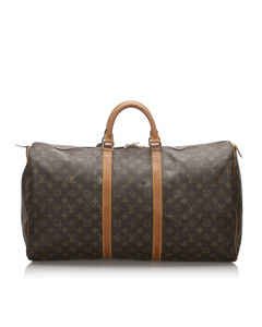 Louis Vuitton Monogram Keepall Bandouliere 55 Brown