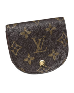 Louis Vuitton Monogram Porte Monnaie Gousset Coin Pouch Brown