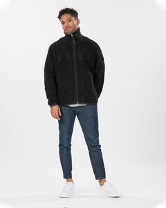 Maison Pile Zip Sweater Black
