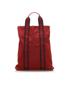 Hermes Fourre Tout Cabas Red