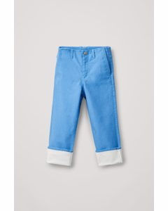 Coated Organic-cotton Jeans Sky Blue