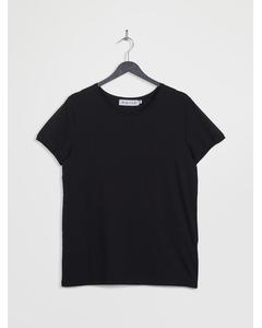 Raw Hem Short Sleeve T-shirt Black