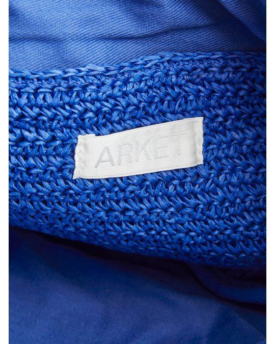 Arket Straw Crossbody Bag Blue