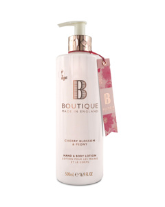 Boutique Cherry Blossom & Peony Hand & Body Lotion 500ml