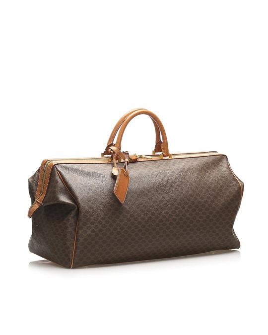 Céline Celine Macadam Travel Bag Brown