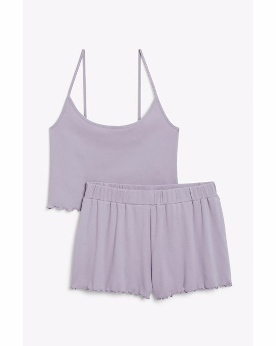 Monki Matching Pyjama Set Light Purple