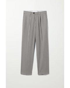Conrad Checked Trousers White/black