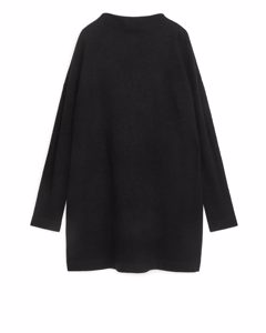 Merino Cotton Jersey Dress Black