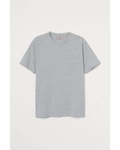 T-shirt I Pimabomull Gråmelerad