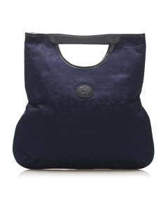 Celine C Macadam Canvas Tote Bag Blue