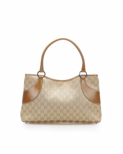 Gucci Gg Canvas Tote Bag Brown
