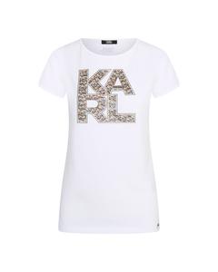 Karl Lagerfeld Library Logo Shirt Wit