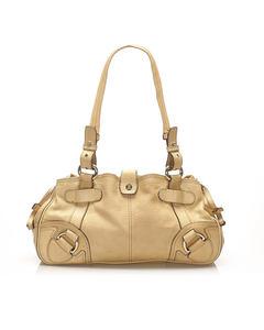 Celine Leather Shoulder Bag Brown