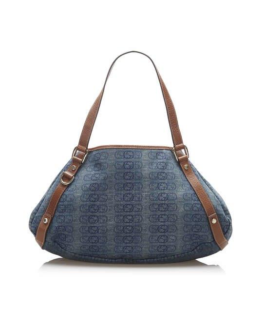 Gucci Gucci Interlocking G Canvas Tote Bag Blue