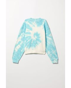 Amaze Printed Sweatshirt Blue Tie Dye