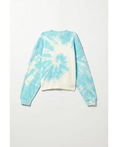 Sweatshirt Amaze mit Print Blau in Batikoptik