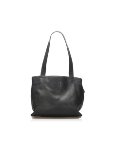 Chanel Cc Lambskin Leather Tote Bag Black