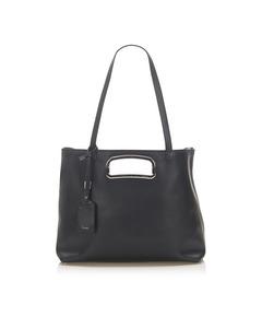 Prada Leather Satchel Black