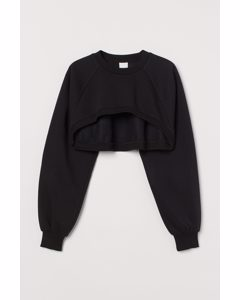 Cropped Sweater Zwart