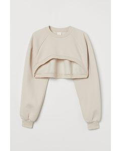 Cropped Sweater Lichtbeige