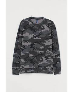 Sweatshirt Mörkgrå/mönstrad