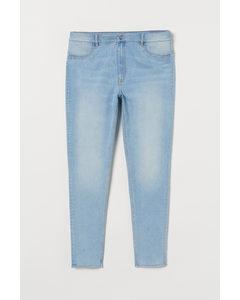 H&M+ Super Skinny High Jeans Hellblau