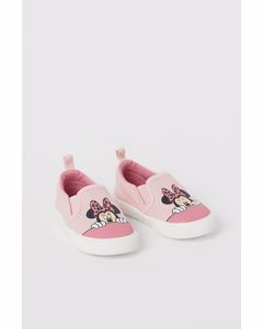 Slip On-sneakers I Canvas Ljusrosa/mimmi Pigg